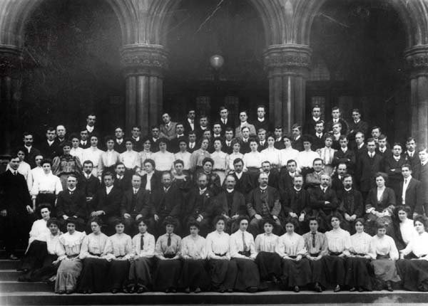 Students of 1906-7 included D.H. Lawrence